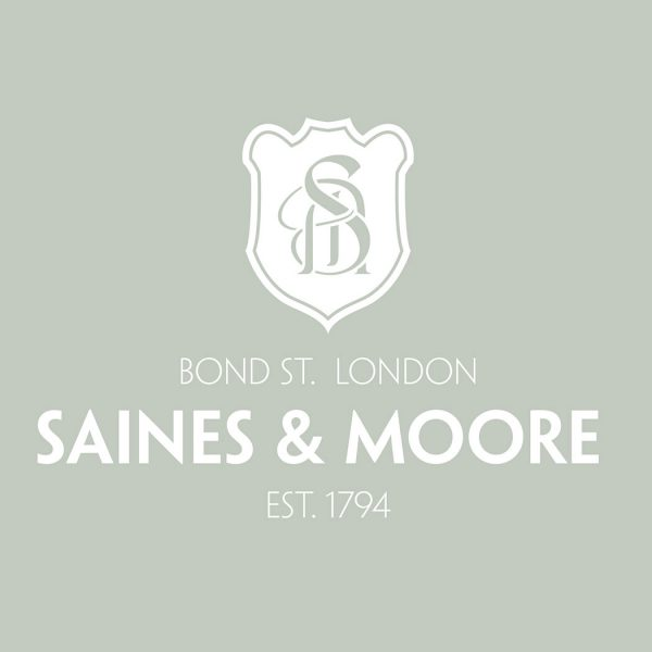 Brand logo for Saines & Moore. Designed by brand agency - Flipflop Design.