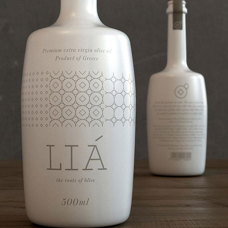 Authentic Design of Lia Olive Oil Packaging