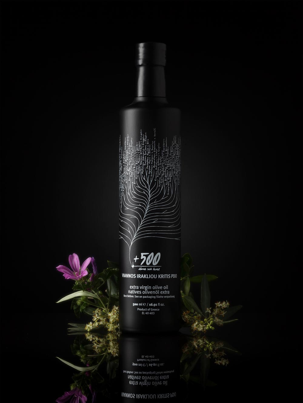 Beautifully executed bottle design - Olive Oil Cooperative Of Viannos