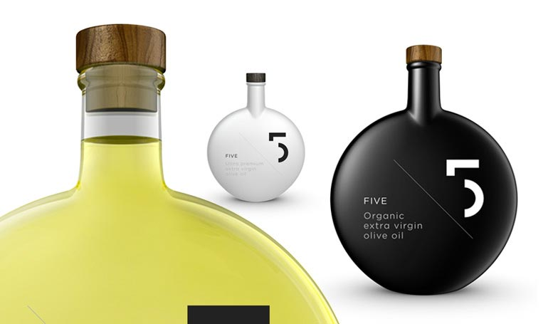 Spectacular Design of 5 Olive Oil Packaging.