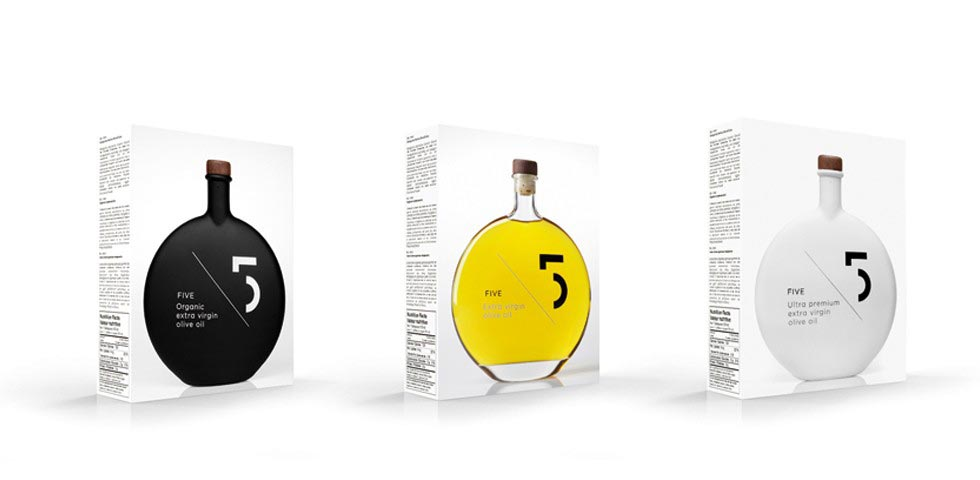 Secondary Packaging Design - 5 Olive Oil Packaging.