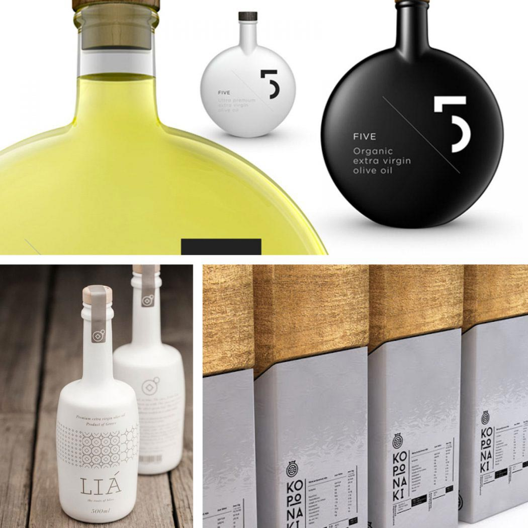 Olive oil packaging designs. A selection of some of the finest packaging designs - Flipflop Design Agency