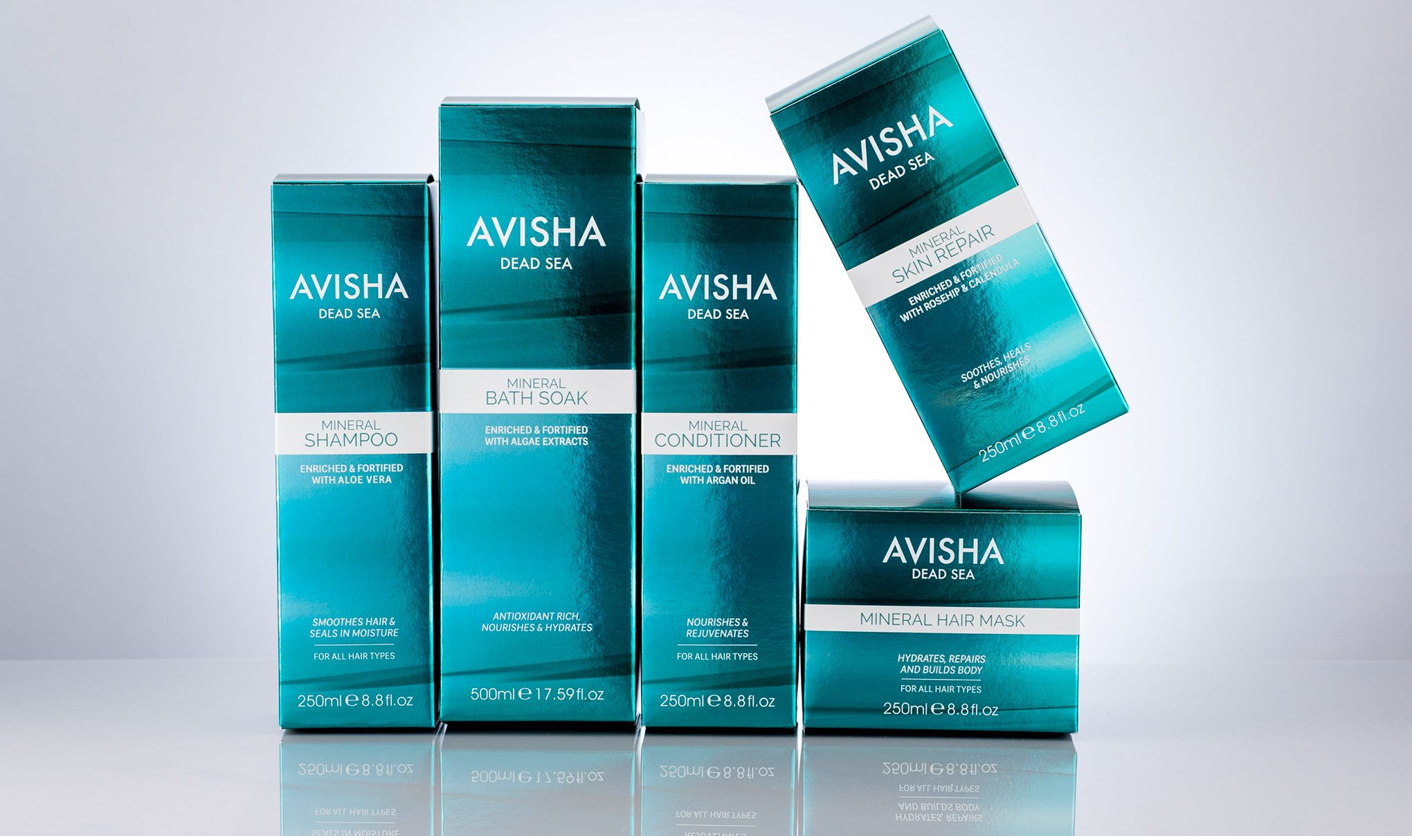 Creative Package Design For Avisha Dead Sea - Full Range line up