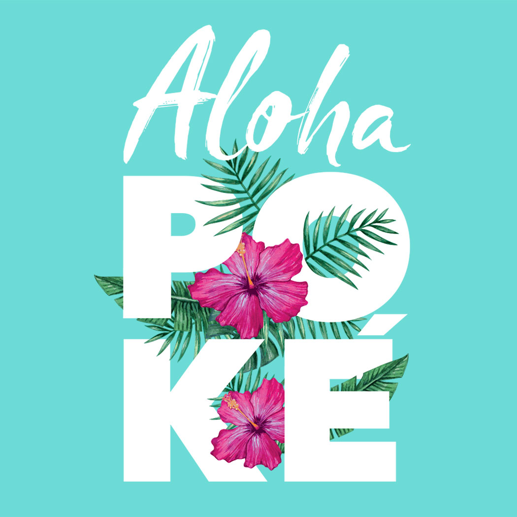 Aloha Poké Brand logo - Creative food packaging design - Creative Food Design Agency - Flipflop Design