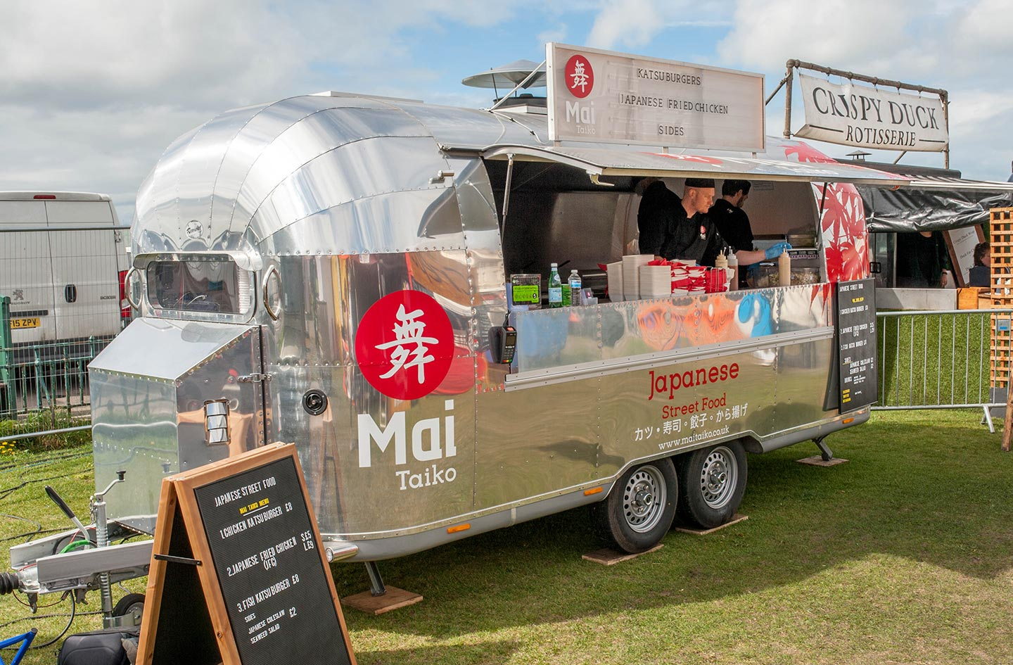 Mai Taiko Airstream Signage Design- Food Branding Agency - Flipflop Design
