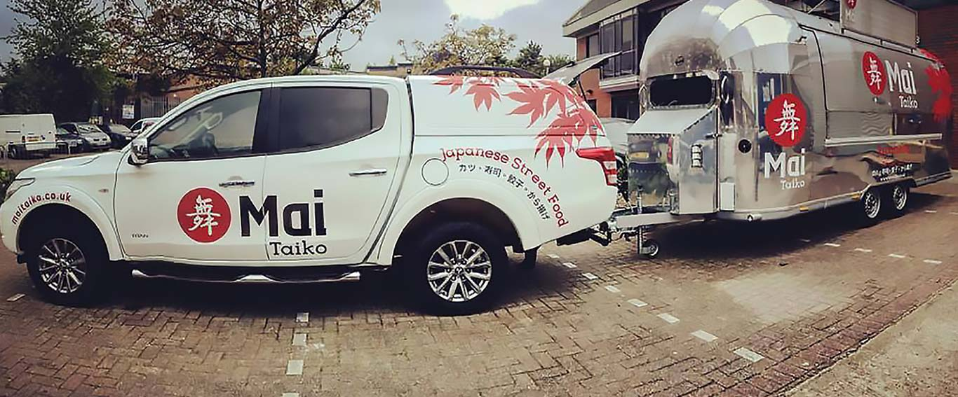 Mai Taiko Car & Truck Signage - Food Branding Agency - Flipflop Design