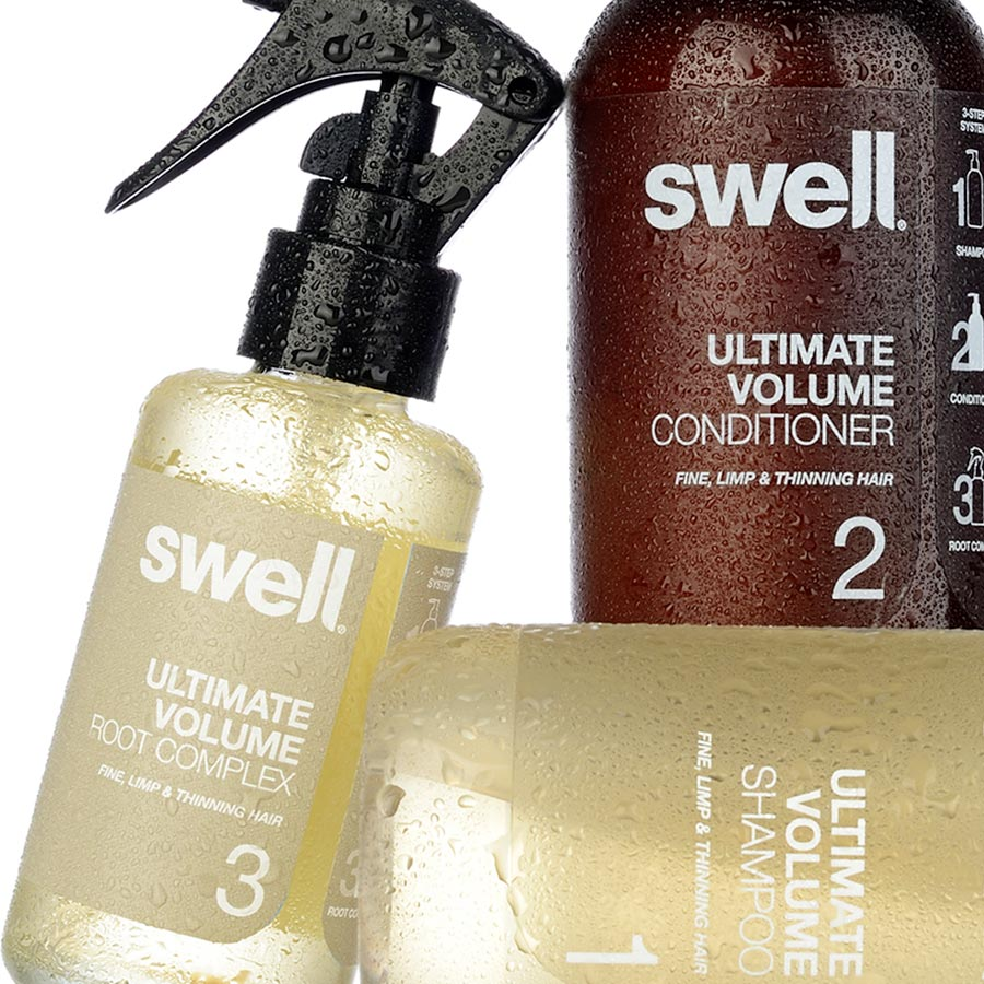 Hair Care Packaging Design for Swell Hair.