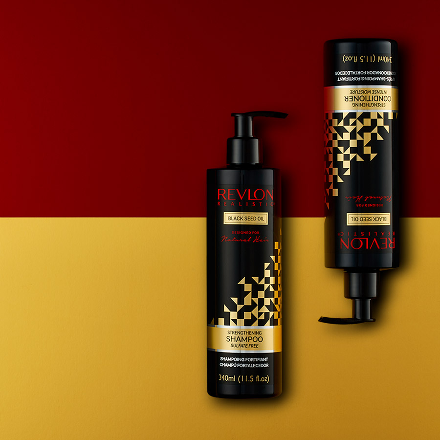 Art Direction of Revlon Realistic Natural Hair care - Creative Agency - Flipflop Design Brighton