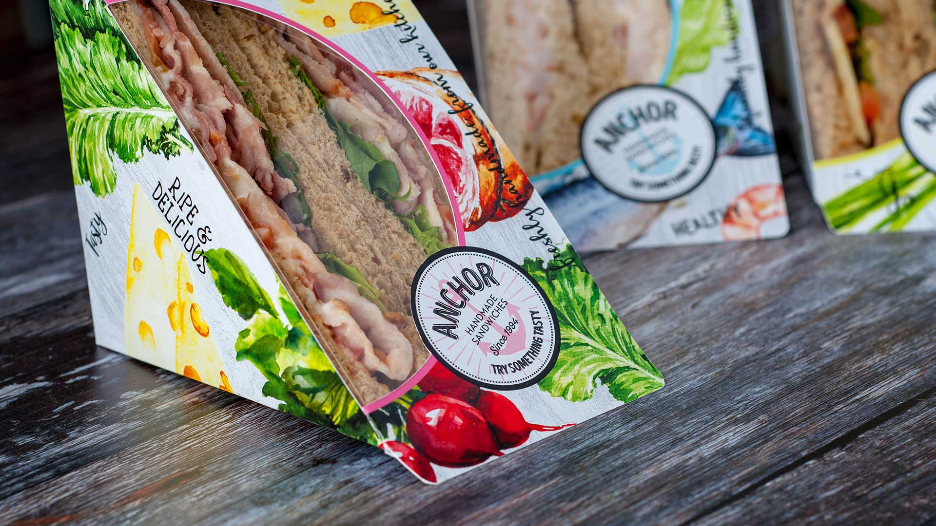 sandwich packaging for Anchor foods - created by packaging designers - Flipflop Design