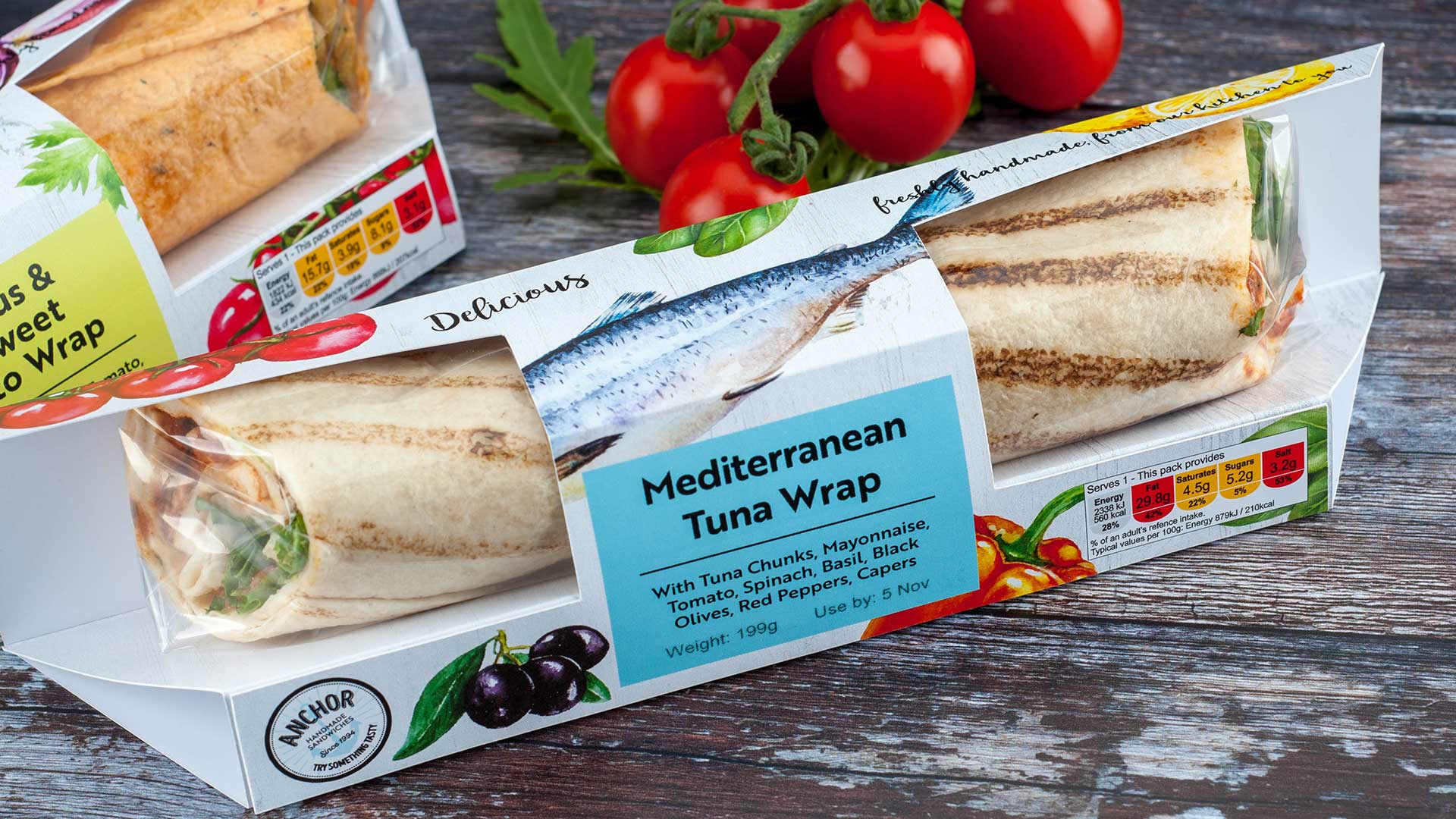 Anchor foods - Tuna wrap package design - crafted by packaging designers - Flipflop Design