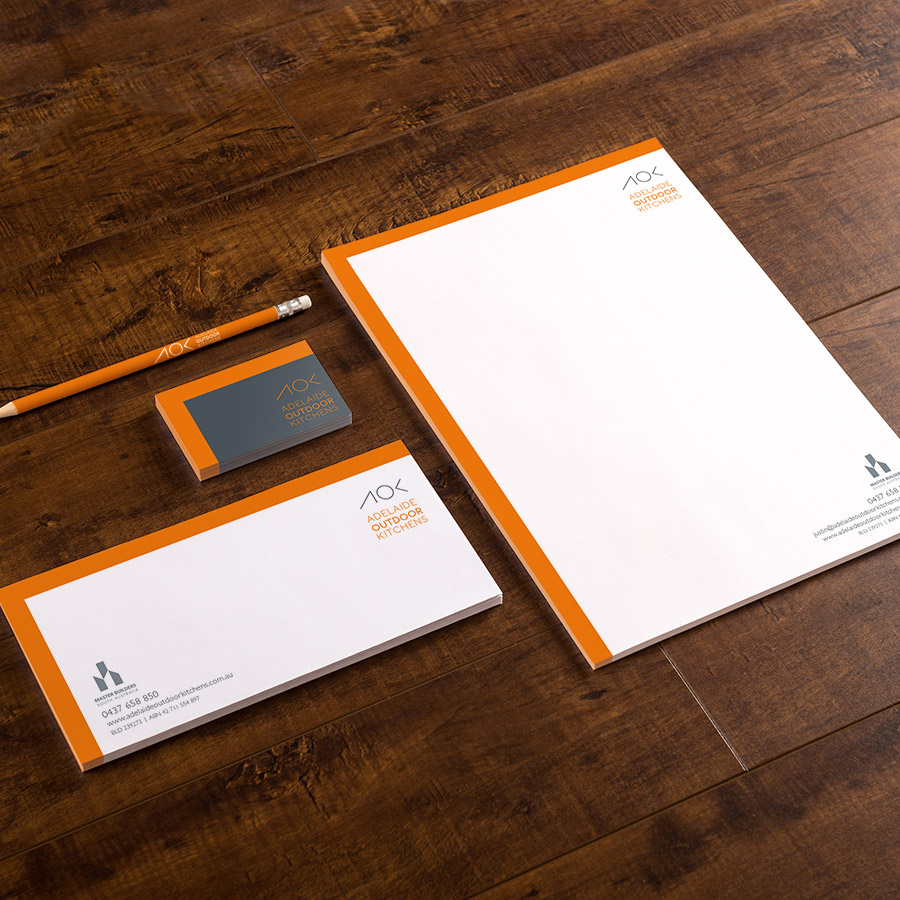 AOK - Business stationery. Created by Flipflop Design Agency