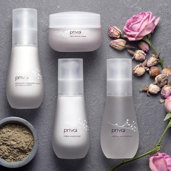 Acid Etched skincare bottles
