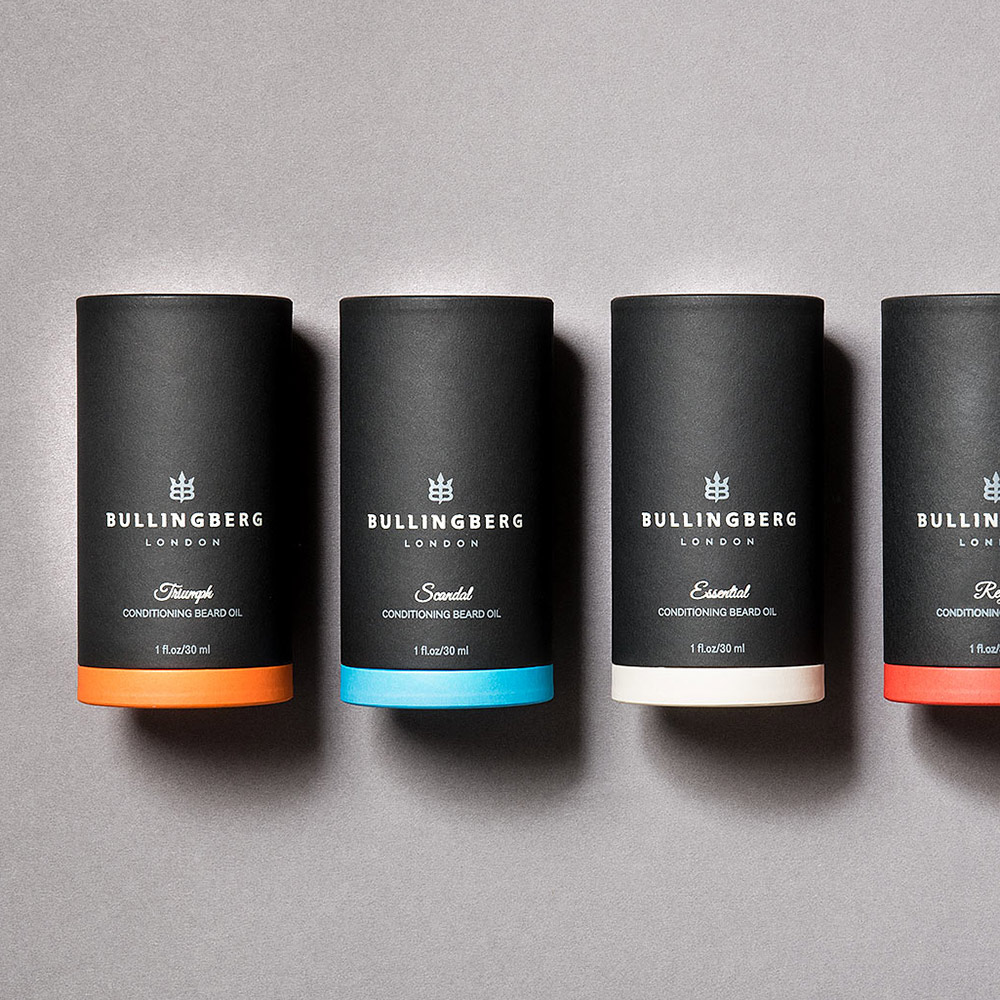 Print Design for Bullingberg Product Packaging. Created by Flipflop Design Agency