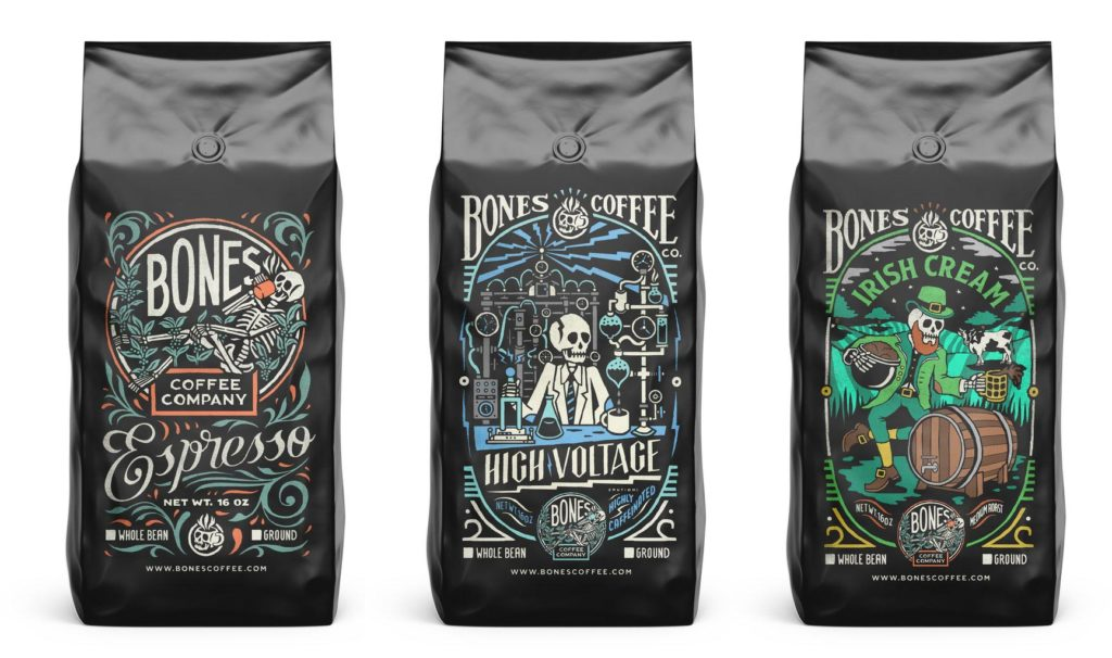 Bones Coffee Packaging Design