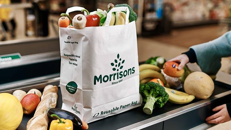 Morrisons paper bag packaging