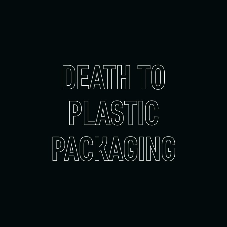Death to Plastic Packaging Typography | FlipflopDesign - Packaging Design Agency
